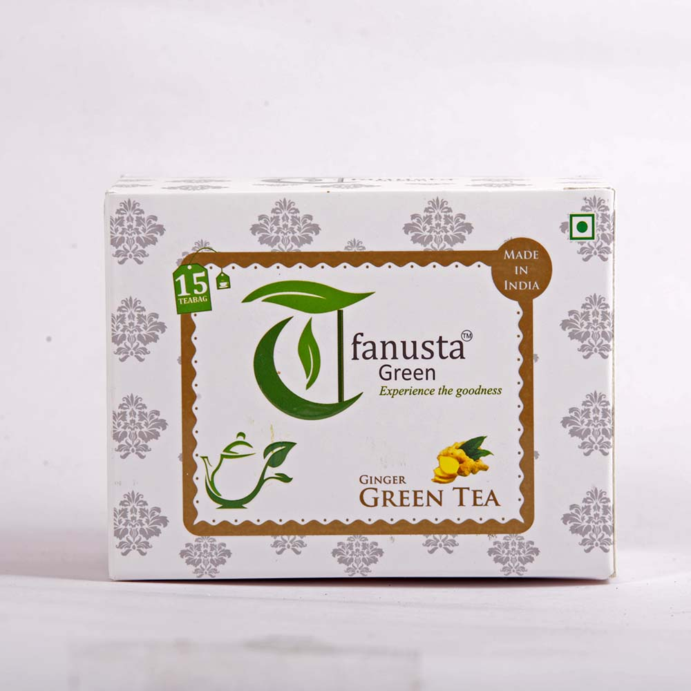 green tea ginger flavour 15 teabags