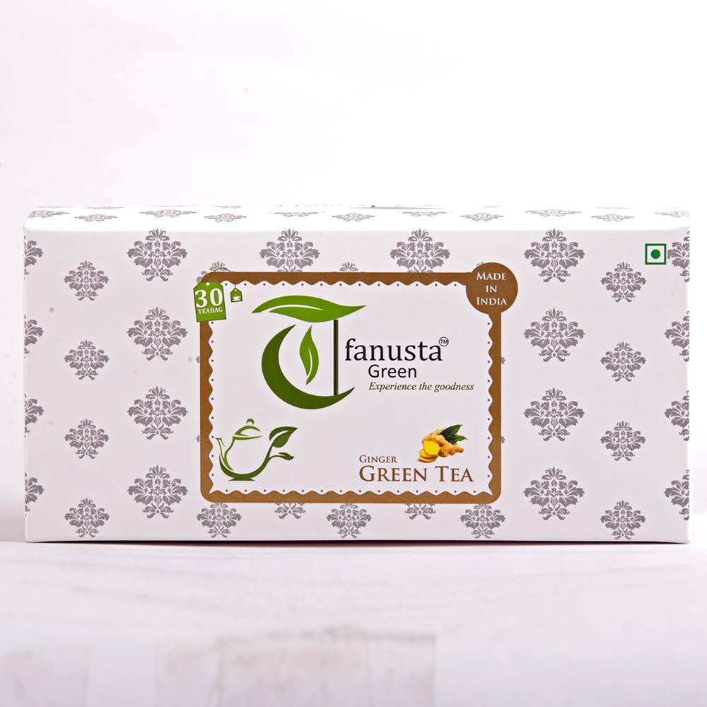 green tea ginger flavour 30 tea bags 1