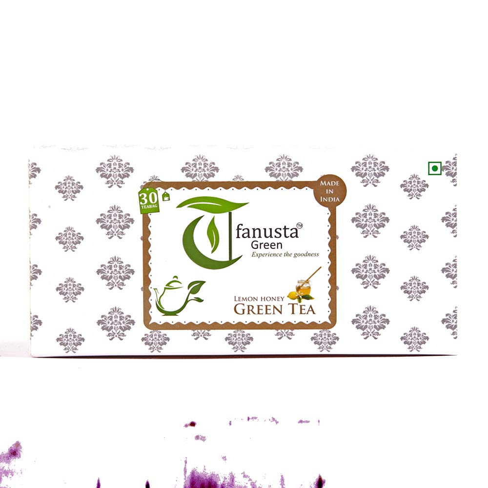 green tea lemon 30 tea bags box