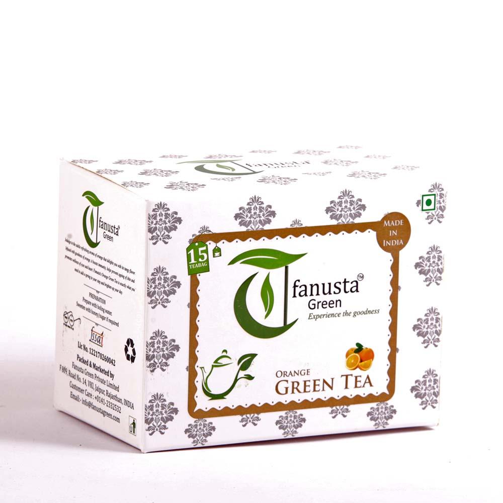 green tea orange 15 tea bags