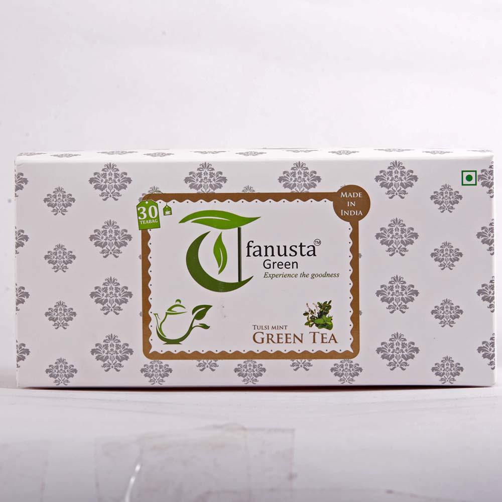 green tea tulsi 30 tea bags box
